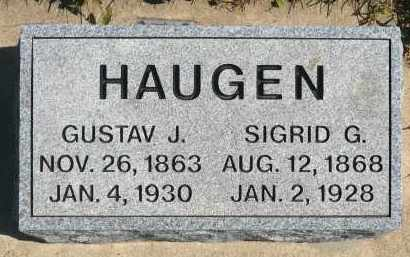 HAUGEN, SIGRID G. - Minnehaha County, South Dakota | SIGRID G. HAUGEN - South Dakota Gravestone Photos
