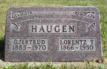 HAUGEN, GJERTRUD - Minnehaha County, South Dakota | GJERTRUD HAUGEN - South Dakota Gravestone Photos