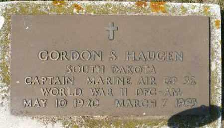 HAUGEN, GORDON S. (WWII) - Minnehaha County, South Dakota   GORDON S. (WWII) HAUGEN - South Dakota Gravestone Photos
