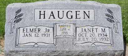 HAUGEN, JANET M - Minnehaha County, South Dakota   JANET M HAUGEN - South Dakota Gravestone Photos