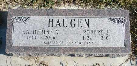 HAUGEN, KATHERINE V. - Minnehaha County, South Dakota   KATHERINE V. HAUGEN - South Dakota Gravestone Photos