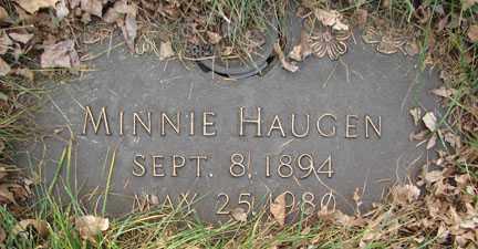 HAUGEN, MINNIE - Minnehaha County, South Dakota | MINNIE HAUGEN - South Dakota Gravestone Photos