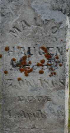 HAUGEN, MALI O. - Minnehaha County, South Dakota   MALI O. HAUGEN - South Dakota Gravestone Photos
