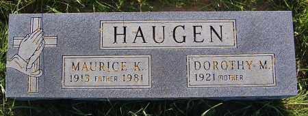 HAUGEN, DOROTHY M. - Minnehaha County, South Dakota | DOROTHY M. HAUGEN - South Dakota Gravestone Photos
