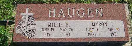 HAUGEN, MYRON J. - Minnehaha County, South Dakota | MYRON J. HAUGEN - South Dakota Gravestone Photos