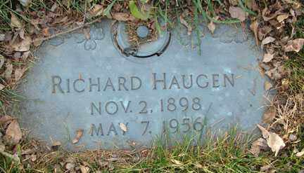 HAUGEN, RICHARD - Minnehaha County, South Dakota | RICHARD HAUGEN - South Dakota Gravestone Photos