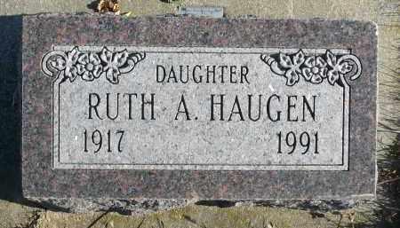 HAUGEN, RUTH A. - Minnehaha County, South Dakota | RUTH A. HAUGEN - South Dakota Gravestone Photos