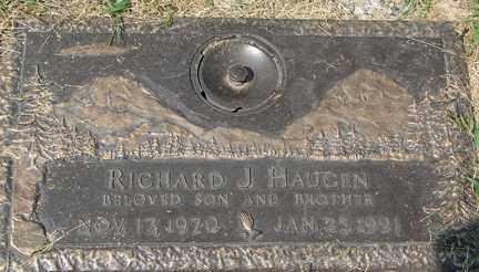 HAUGEN, RICHARD J. - Minnehaha County, South Dakota | RICHARD J. HAUGEN - South Dakota Gravestone Photos