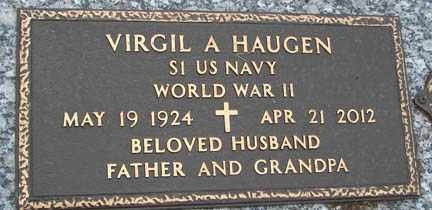 HAUGEN, VIRGIL A. - Minnehaha County, South Dakota | VIRGIL A. HAUGEN - South Dakota Gravestone Photos