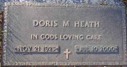 HEATH, DORIS M. - Minnehaha County, South Dakota | DORIS M. HEATH - South Dakota Gravestone Photos