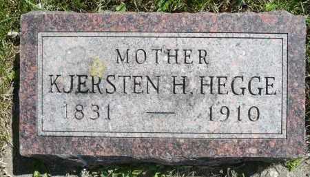 HEGGE, KJERSTEN H. - Minnehaha County, South Dakota | KJERSTEN H. HEGGE - South Dakota Gravestone Photos