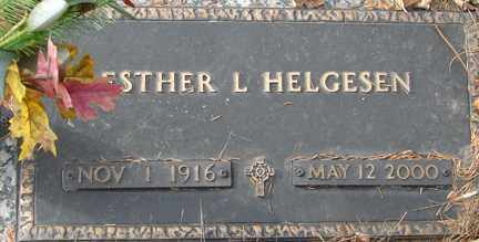 HENDRICKSON HELGESEN, ESTHER L. - Minnehaha County, South Dakota   ESTHER L. HENDRICKSON HELGESEN - South Dakota Gravestone Photos