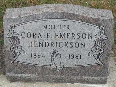 HENDRICKSON, CORA E. - Minnehaha County, South Dakota   CORA E. HENDRICKSON - South Dakota Gravestone Photos