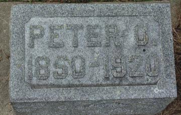 HENERSON, PETER OLIVER - Minnehaha County, South Dakota | PETER OLIVER HENERSON - South Dakota Gravestone Photos