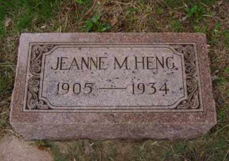 HENG, JEANNE M. - Minnehaha County, South Dakota | JEANNE M. HENG - South Dakota Gravestone Photos
