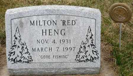 "HENG, MILTON E. ""RED"" - Minnehaha County, South Dakota | MILTON E. ""RED"" HENG - South Dakota Gravestone Photos"
