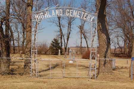 *HIGHLAND CEMETERY, ENTRANCE - Minnehaha County, South Dakota   ENTRANCE *HIGHLAND CEMETERY - South Dakota Gravestone Photos