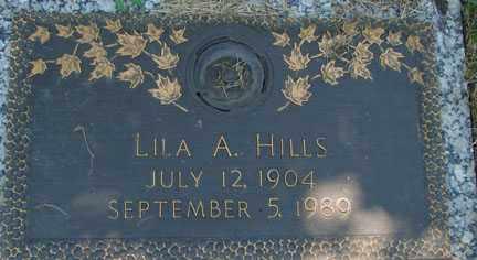 HILLS, LILA A. - Minnehaha County, South Dakota   LILA A. HILLS - South Dakota Gravestone Photos