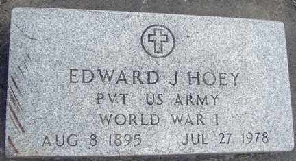 HOEY, EDWARD J. - Minnehaha County, South Dakota | EDWARD J. HOEY - South Dakota Gravestone Photos
