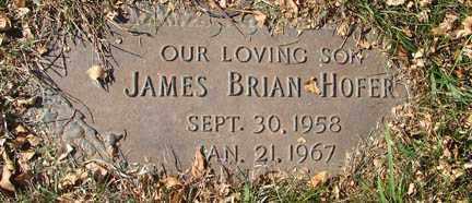 HOFER, JAMES BRIAN - Minnehaha County, South Dakota | JAMES BRIAN HOFER - South Dakota Gravestone Photos
