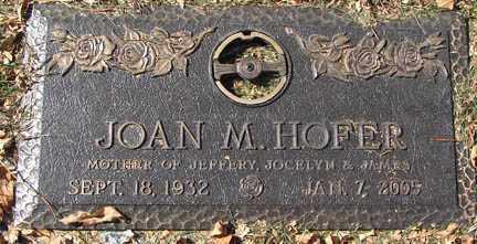 HOFER, JOAN M. - Minnehaha County, South Dakota | JOAN M. HOFER - South Dakota Gravestone Photos