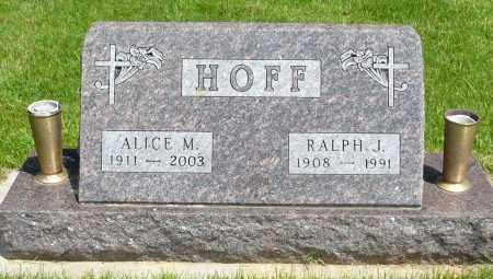 HOFF, ALICE M. - Minnehaha County, South Dakota | ALICE M. HOFF - South Dakota Gravestone Photos