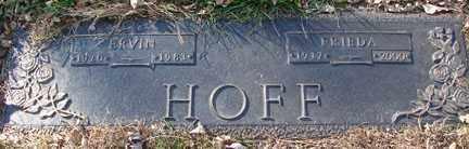 HOFF, ERVIN - Minnehaha County, South Dakota | ERVIN HOFF - South Dakota Gravestone Photos