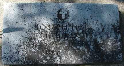 HOFF, JOSEPH (MILITARY) - Minnehaha County, South Dakota | JOSEPH (MILITARY) HOFF - South Dakota Gravestone Photos