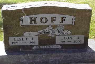 HOFF, LEONE J. - Minnehaha County, South Dakota | LEONE J. HOFF - South Dakota Gravestone Photos