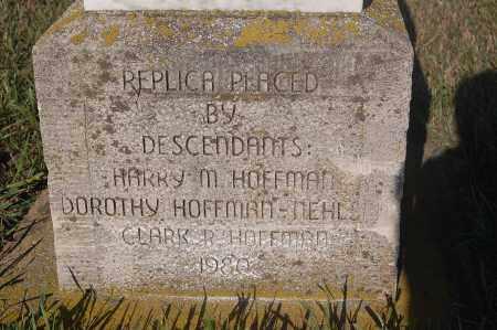 HOFFMAN, REPLICA CLOSE UP - Minnehaha County, South Dakota | REPLICA CLOSE UP HOFFMAN - South Dakota Gravestone Photos