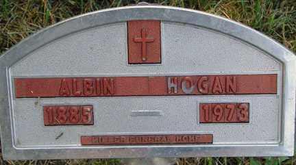 HOGAN, ALBIN - Minnehaha County, South Dakota   ALBIN HOGAN - South Dakota Gravestone Photos