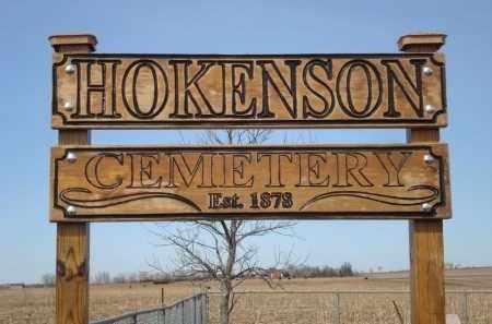 *HOKENSON CEMETERY, SIGN - Minnehaha County, South Dakota   SIGN *HOKENSON CEMETERY - South Dakota Gravestone Photos