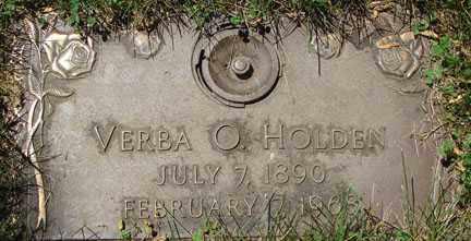 HOLDEN, VERBA O. - Minnehaha County, South Dakota | VERBA O. HOLDEN - South Dakota Gravestone Photos
