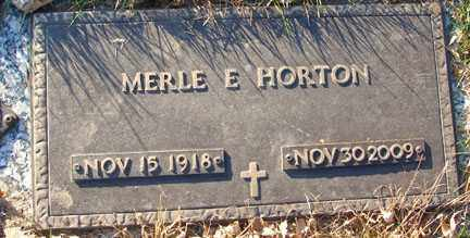 HORTON, MERLE E. - Minnehaha County, South Dakota | MERLE E. HORTON - South Dakota Gravestone Photos