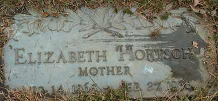 HORTSCH, ELIZABETH - Minnehaha County, South Dakota   ELIZABETH HORTSCH - South Dakota Gravestone Photos