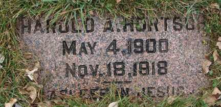 HORTSCH, HAROLD A. - Minnehaha County, South Dakota | HAROLD A. HORTSCH - South Dakota Gravestone Photos