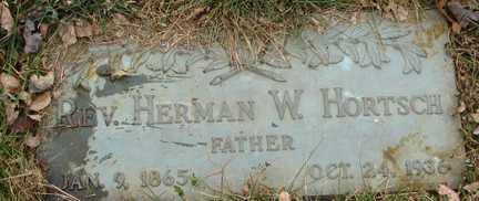 HORTSCH, HERMAN W.  REV - Minnehaha County, South Dakota | HERMAN W.  REV HORTSCH - South Dakota Gravestone Photos