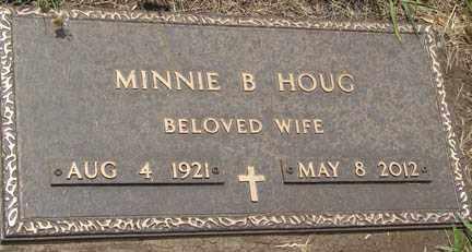 HOUG, MINNIE  B. - Minnehaha County, South Dakota   MINNIE  B. HOUG - South Dakota Gravestone Photos