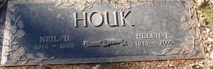 HOUK, HELEN L. - Minnehaha County, South Dakota | HELEN L. HOUK - South Dakota Gravestone Photos