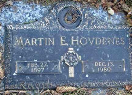 HOVDENES, MARTIN E. - Minnehaha County, South Dakota | MARTIN E. HOVDENES - South Dakota Gravestone Photos