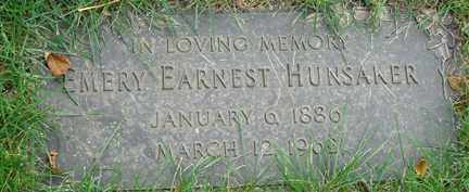 HUNSAKER, EMERY EARNEST - Minnehaha County, South Dakota | EMERY EARNEST HUNSAKER - South Dakota Gravestone Photos