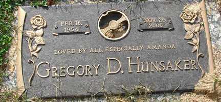 HUNSAKER, GREGORY D. - Minnehaha County, South Dakota | GREGORY D. HUNSAKER - South Dakota Gravestone Photos