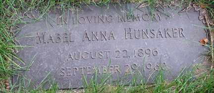 HUNSAKER, MABEL ANNA - Minnehaha County, South Dakota | MABEL ANNA HUNSAKER - South Dakota Gravestone Photos