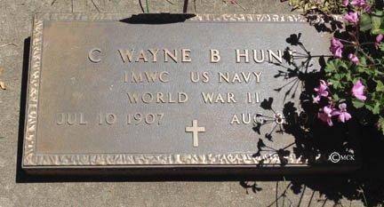 HUNT, C. WAYNE B. - Minnehaha County, South Dakota | C. WAYNE B. HUNT - South Dakota Gravestone Photos