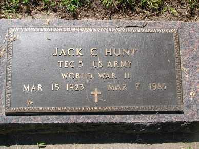 HUNT, JACK C. - Minnehaha County, South Dakota | JACK C. HUNT - South Dakota Gravestone Photos