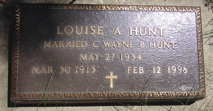 HUNT, LOUISE A. - Minnehaha County, South Dakota | LOUISE A. HUNT - South Dakota Gravestone Photos