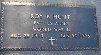 HUNT, ROY B. - Minnehaha County, South Dakota   ROY B. HUNT - South Dakota Gravestone Photos