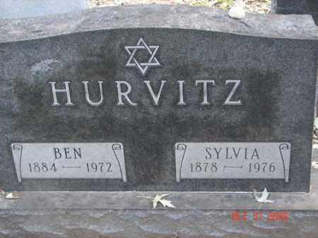 HURVITZ, SYLVIA - Minnehaha County, South Dakota   SYLVIA HURVITZ - South Dakota Gravestone Photos