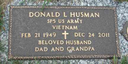 HUSMAN, DONALD L. - Minnehaha County, South Dakota | DONALD L. HUSMAN - South Dakota Gravestone Photos