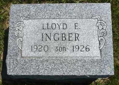 INGBER, LLOYD E. - Minnehaha County, South Dakota | LLOYD E. INGBER - South Dakota Gravestone Photos